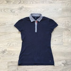 Tommy Hilfiger Women's Navy Blue Polo Shirt Size S